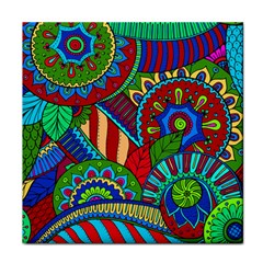 Pop Art Paisley Flowers Ornaments Multicolored 2 Tile Coasters by EDDArt