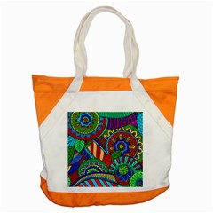 Pop Art Paisley Flowers Ornaments Multicolored 2 Accent Tote Bag by EDDArt