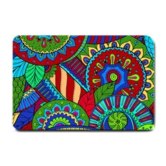 Pop Art Paisley Flowers Ornaments Multicolored 2 Small Doormat  by EDDArt