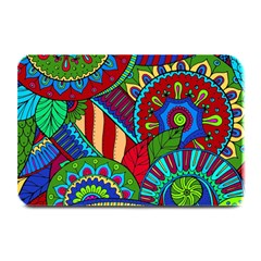 Pop Art Paisley Flowers Ornaments Multicolored 2 Plate Mats by EDDArt
