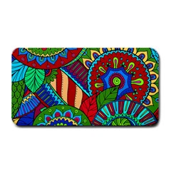 Pop Art Paisley Flowers Ornaments Multicolored 2 Medium Bar Mats by EDDArt