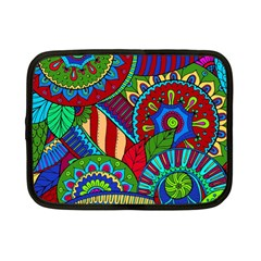 Pop Art Paisley Flowers Ornaments Multicolored 2 Netbook Case (small)  by EDDArt