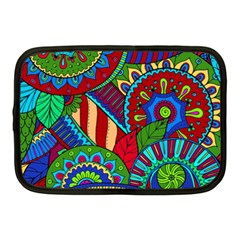 Pop Art Paisley Flowers Ornaments Multicolored 2 Netbook Case (medium)  by EDDArt
