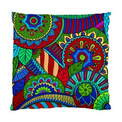 Pop Art Paisley Flowers Ornaments Multicolored 2 Standard Cushion Case (one Side) by EDDArt
