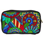 Pop Art Paisley Flowers Ornaments Multicolored 2 Toiletries Bags Front