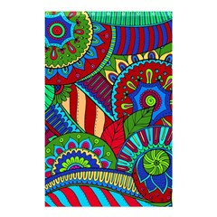 Pop Art Paisley Flowers Ornaments Multicolored 2 Shower Curtain 48  X 72  (small)  by EDDArt
