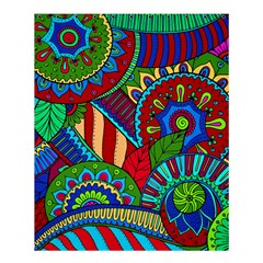 Pop Art Paisley Flowers Ornaments Multicolored 2 Shower Curtain 60  X 72  (medium)  by EDDArt