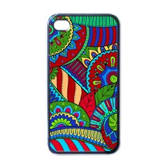 Pop Art Paisley Flowers Ornaments Multicolored 2 Apple Iphone 4 Case (black) by EDDArt