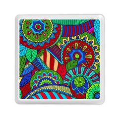 Pop Art Paisley Flowers Ornaments Multicolored 2 Memory Card Reader (square) by EDDArt