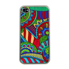 Pop Art Paisley Flowers Ornaments Multicolored 2 Apple Iphone 4 Case (clear) by EDDArt