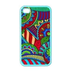 Pop Art Paisley Flowers Ornaments Multicolored 2 Apple Iphone 4 Case (color) by EDDArt