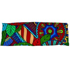 Pop Art Paisley Flowers Ornaments Multicolored 2 Body Pillow Case Dakimakura (two Sides) by EDDArt