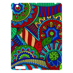 Pop Art Paisley Flowers Ornaments Multicolored 2 Apple Ipad 3/4 Hardshell Case by EDDArt