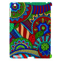 Pop Art Paisley Flowers Ornaments Multicolored 2 Apple Ipad 3/4 Hardshell Case (compatible With Smart Cover) by EDDArt