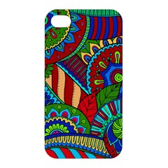 Pop Art Paisley Flowers Ornaments Multicolored 2 Apple Iphone 4/4s Premium Hardshell Case by EDDArt