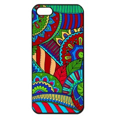 Pop Art Paisley Flowers Ornaments Multicolored 2 Apple Iphone 5 Seamless Case (black) by EDDArt
