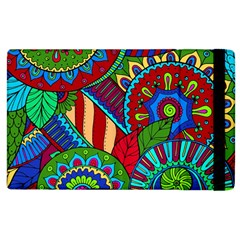 Pop Art Paisley Flowers Ornaments Multicolored 2 Apple Ipad 2 Flip Case by EDDArt