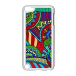 Pop Art Paisley Flowers Ornaments Multicolored 2 Apple iPod Touch 5 Case (White) Front