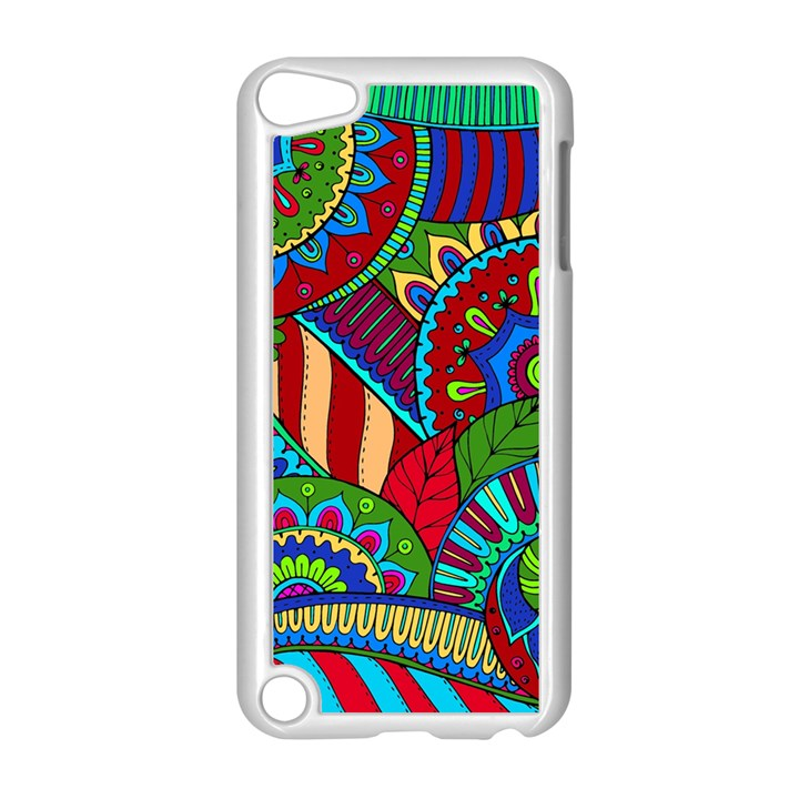 Pop Art Paisley Flowers Ornaments Multicolored 2 Apple iPod Touch 5 Case (White)