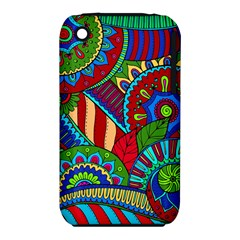 Pop Art Paisley Flowers Ornaments Multicolored 2 Iphone 3s/3gs by EDDArt