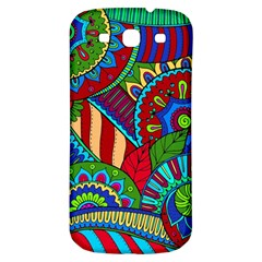 Pop Art Paisley Flowers Ornaments Multicolored 2 Samsung Galaxy S3 S Iii Classic Hardshell Back Case by EDDArt