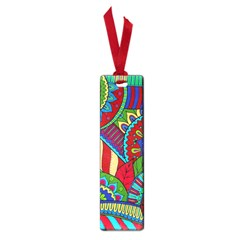 Pop Art Paisley Flowers Ornaments Multicolored 2 Small Book Marks by EDDArt