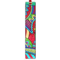 Pop Art Paisley Flowers Ornaments Multicolored 2 Large Book Marks by EDDArt