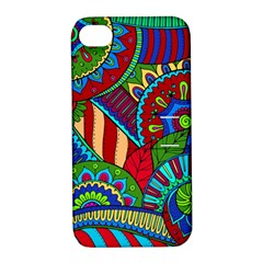 Pop Art Paisley Flowers Ornaments Multicolored 2 Apple Iphone 4/4s Hardshell Case With Stand by EDDArt