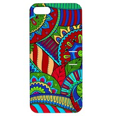 Pop Art Paisley Flowers Ornaments Multicolored 2 Apple Iphone 5 Hardshell Case With Stand by EDDArt