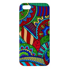 Pop Art Paisley Flowers Ornaments Multicolored 2 Apple Iphone 5 Premium Hardshell Case by EDDArt