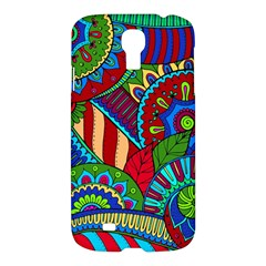 Pop Art Paisley Flowers Ornaments Multicolored 2 Samsung Galaxy S4 I9500/i9505 Hardshell Case by EDDArt