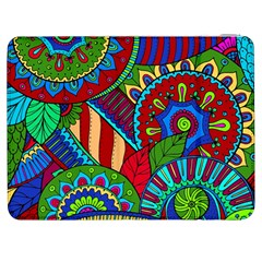 Pop Art Paisley Flowers Ornaments Multicolored 2 Samsung Galaxy Tab 7  P1000 Flip Case by EDDArt