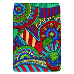 Pop Art Paisley Flowers Ornaments Multicolored 2 Flap Covers (l)  by EDDArt