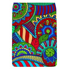 Pop Art Paisley Flowers Ornaments Multicolored 2 Flap Covers (s)  by EDDArt