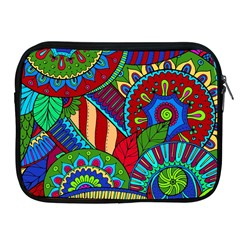 Pop Art Paisley Flowers Ornaments Multicolored 2 Apple Ipad 2/3/4 Zipper Cases by EDDArt