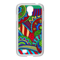 Pop Art Paisley Flowers Ornaments Multicolored 2 Samsung Galaxy S4 I9500/ I9505 Case (white) by EDDArt