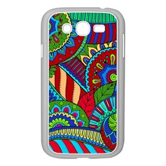 Pop Art Paisley Flowers Ornaments Multicolored 2 Samsung Galaxy Grand Duos I9082 Case (white) by EDDArt