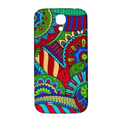 Pop Art Paisley Flowers Ornaments Multicolored 2 Samsung Galaxy S4 I9500/i9505  Hardshell Back Case by EDDArt