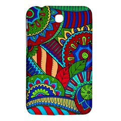 Pop Art Paisley Flowers Ornaments Multicolored 2 Samsung Galaxy Tab 3 (7 ) P3200 Hardshell Case  by EDDArt
