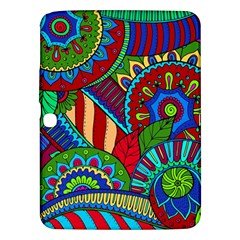 Pop Art Paisley Flowers Ornaments Multicolored 2 Samsung Galaxy Tab 3 (10 1 ) P5200 Hardshell Case  by EDDArt