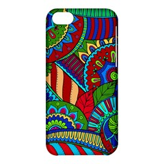 Pop Art Paisley Flowers Ornaments Multicolored 2 Apple Iphone 5c Hardshell Case by EDDArt