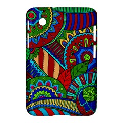 Pop Art Paisley Flowers Ornaments Multicolored 2 Samsung Galaxy Tab 2 (7 ) P3100 Hardshell Case  by EDDArt