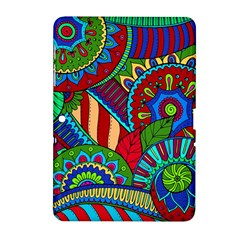 Pop Art Paisley Flowers Ornaments Multicolored 2 Samsung Galaxy Tab 2 (10 1 ) P5100 Hardshell Case  by EDDArt
