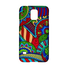 Pop Art Paisley Flowers Ornaments Multicolored 2 Samsung Galaxy S5 Hardshell Case  by EDDArt