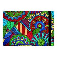 Pop Art Paisley Flowers Ornaments Multicolored 2 Samsung Galaxy Tab Pro 10 1  Flip Case by EDDArt