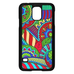 Pop Art Paisley Flowers Ornaments Multicolored 2 Samsung Galaxy S5 Case (black) by EDDArt