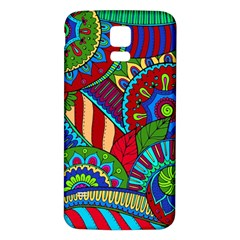 Pop Art Paisley Flowers Ornaments Multicolored 2 Samsung Galaxy S5 Back Case (white) by EDDArt