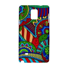 Pop Art Paisley Flowers Ornaments Multicolored 2 Samsung Galaxy Note 4 Hardshell Case by EDDArt