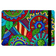 Pop Art Paisley Flowers Ornaments Multicolored 2 Ipad Air 2 Flip by EDDArt