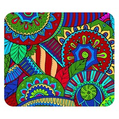 Pop Art Paisley Flowers Ornaments Multicolored 2 Double Sided Flano Blanket (small)  by EDDArt